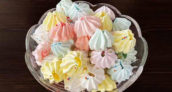 طرز تهیه شیرینی مرنگ فرانسوی پفکی و خوشمزه در منزل 20 و 40 و 60 عدد، shirini marang pofaki