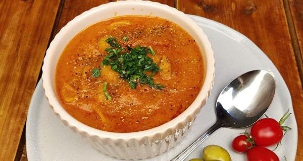 طرز تهیه سوپ گوجه فرنگی، طرز تهیه و پخت سوپ گوجه فرنگی خوشمزه و مجلسی در منزل، soup goje ferengi