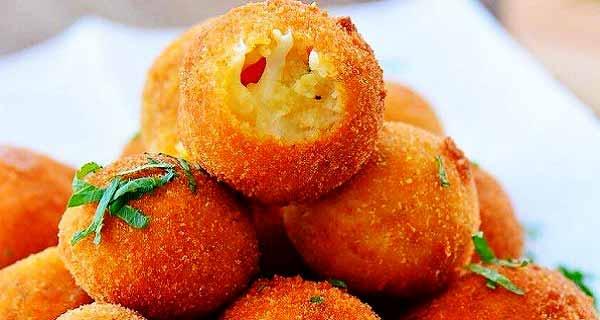 طرز تهیه توپک سیب زمینی پنیری به روشی خوشمزه و سوخاری در منزل، topak-sibzamini-paniri
