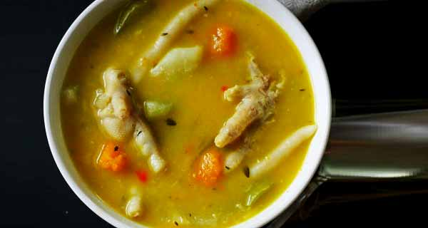 سوپ پای مرغ، طرز تهیه و پخت سوپ پای مرغ خوشمزه در منزل مرحله به مرحله، soup paye morgh