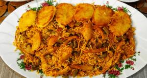 طرز تهیه لوبیا پلو با مرغ به روشی خوشمزه و مجلسی برای 4 تا 5 نفر در خانه مرحله به مرحله