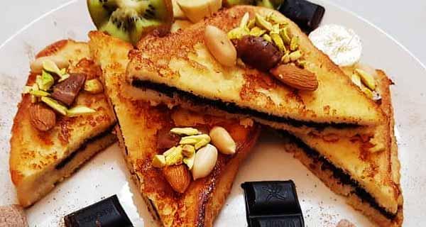 طرز تهیه فرنچ تست شکلاتی خوشمزه و خوش طعم خانگی در منزل