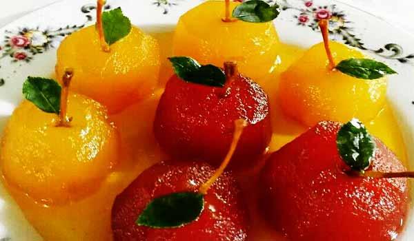 طرز تهیه مربای سیب زرد، قرمز و سبز خانگی خوشمزه و مجلسی در خانه مرحله به مرحله، morabaye sib