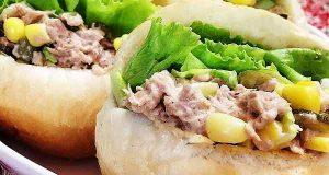 طرز تهیه ساندویچ تن ماهی و ذرت خوشمزه و رستورانی در خانه، sandwich-toon-mahi-zorat