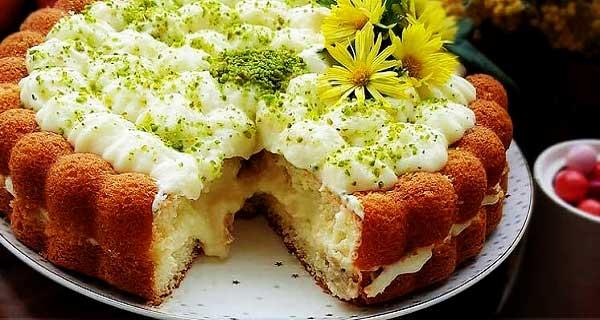 طرز تهیه کیک آلمانی ساده و خوشمزه حرفه ای با کرم مخصوص در منزل