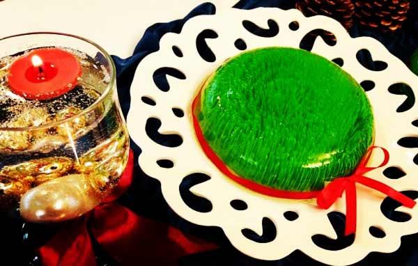 طرز تهیه ژله سبزه شیک و مجلسی زیبا برای عید در منزل