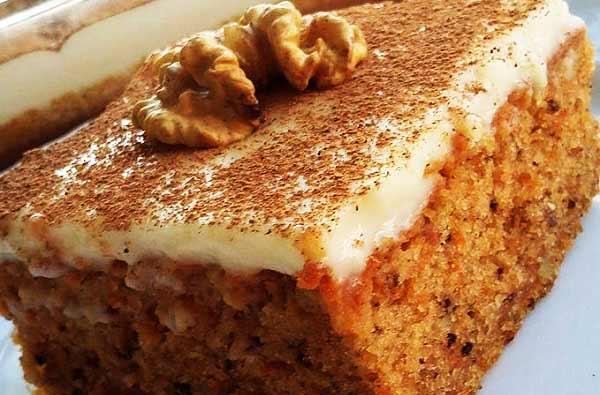 طرز تهیه کیک هویج کرمدار خوشمزه و ترکیه ای به روش حرفه ای