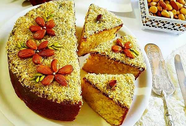 طرز تهیه کیک شنی خوشمزه و ترکیه ای بدون فر در قابلمه
