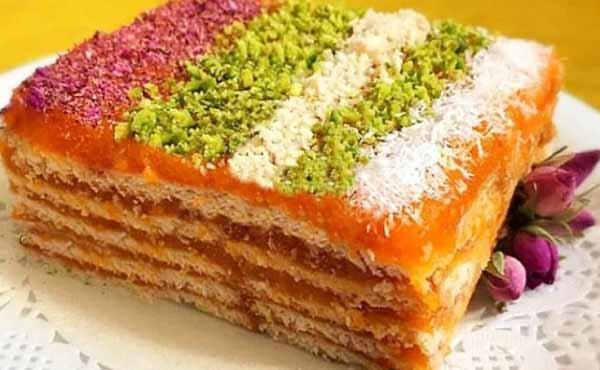 طرز تهیه کیک یخچالی هویج ، دسر خوشمزه با نشاسته و بیسکویت مرحله به مرحله