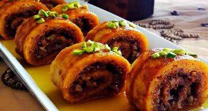 طرز تهیه خاگینه رولی خوشمزه و تبریزی با هویج و گردو مرحله به مرحله
