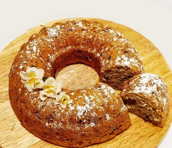 طرز تهیه کیک موز و گردوی خوشمزه و خانگی با ماست مرحله به مرحله در منزل و خانه برای عصرانه و صبحانه و مهمانی