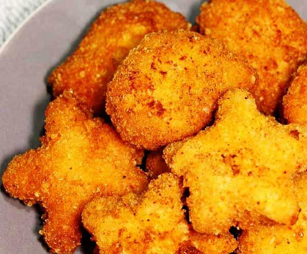 طرز تهیه ناگت مرغ بازاری خوشمزه و ساده پفکی در منزل و خانه مرحله به مرحله تصویری