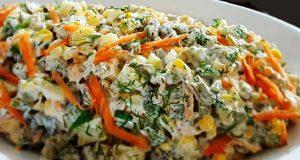 طرز تهیه تهیه سالاد لوبیا سبز خوشمزه و فرانسوی با مرغ و قارچ مرحله به مرحله